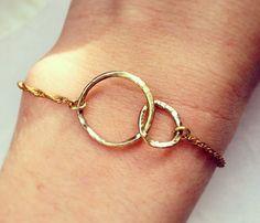 Infinity Spiral Chain Bracelet - Valentines Day