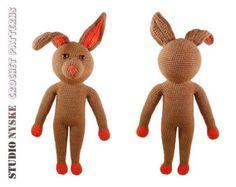 Christmas gift PATTERN, amigurumi rabbit LARGE, crochet dress up doll pdf