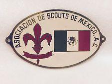 Boy Scouts-Asociación de Scouts De Mexico-Oval De Metal Placard