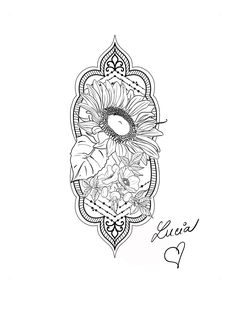 Sunflower and rose hip flower mandala tattoo Flower Mandala, Mandala Tattoo, Phone Wallpapers, My Design, Tattoos, Rose, Flowers, Cards, Tatuajes