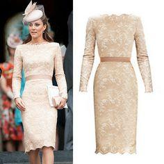 Street Style Dresses Wholesaler Linglinghaoyun Sells 2013 Autumn New Arrival  Princess Kate Middleton Same Stye Floral Lace Dress fea05d74033d