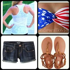 fourth of July outfit!!! (: