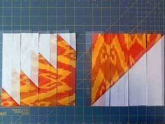 Delectable Mountain Quilt Block Layout by Janice Elaine Sews ~ A short video really makes this simple block easy to understand! The possibilities are endless with thousands of fabrics to choose from at the Fabric Shack at http://www.fabricshack.com/cgi-bin/Store/store.cgi
