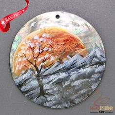 Dag Accessory Creative Pendant Hand Painted Scenery Black Lip Shell ZL303335 #ZL #Pendant