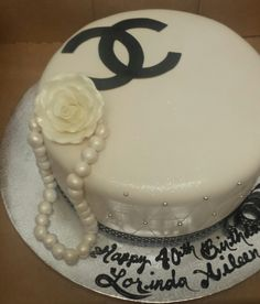 Calumet Bakery Chanel Logo and Pearls Cake