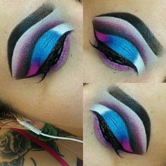 White Liquid Eyeliner | Red Sparkly Eyeshadow | Metallic Purple Eyeshadow 20190430 #MakeupTutorialEyeliner Sparkly Eyeshadow, Eyeshadow Looks, Makeup Eyeshadow, Makeup Tutorial Eyeliner, Gel Eyeliner, Natural Eye Makeup, Natural Eyes, Makeup Blog, Makeup Tools