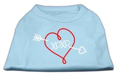 Mirage cat Products XOXO Screen Print Shirt Baby Blue XXL (18) ** Quickly view this special  product, click the image (This is an amazon affiliate link. I may earn commission from it)