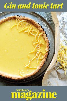 Imagine a perfect lemon tart, but infused with the feisty flavours of your favourite aperitif. The pastry crust has a nice crunch to it, like a giant biscuit, and is very easy to make because you just whack it in a food processor. Serve the tart with a dollop of whipped cream or crème fraîche