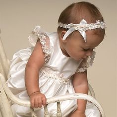 Leila Silk Christening Gown. Baptism Outfits & Dresses
