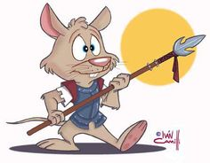 Spear Mouse. Drawn on paper and colorized digitally.
