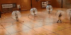 Bubble soccer looks like the greatest thing ever. I NEED TO TRY THIS.