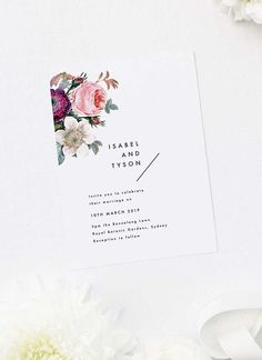 Our Modern Minimal Floral Rose Wedding Invitations feature a modern, clean and minimal design with elegant florals. Botanical Wedding Theme, Woodland Theme Wedding, Botanical Wedding Invitations, Wedding Invitations Online, Country Wedding Invitations, Floral Wedding Invitations, Invites, Contemporary Wedding Theme, Rose Wedding
