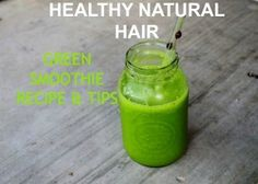 Drinking Greens for Healthy Natural Hair - Natural Hair Rules!!!