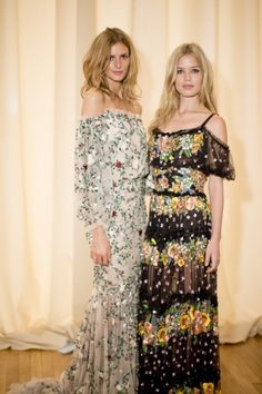 Jacquetta Wheeler and Georgia May Jagger backstage at Marchesa spring 2015. Photo by Kevin Tachman.