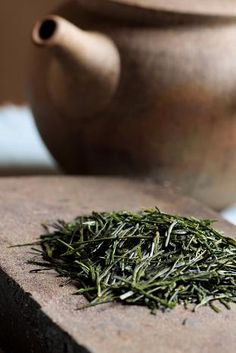 Gyokuro 'Jade Dewdrop' is the rarest Japanese tea grown under carefully controlled bamboo slats to encourage the growth of chlorophyll which gives the tea its emerald green colour and exquisite flavour. http://www.teapalace.co.uk/Gyokuro-Asahi-P303/