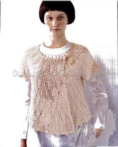 Ivelise Feito à Mão: Lindo Bolero Transpassado Em Crochê! Beautiful wrap around crochet shirt