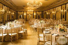classic elegant gold ballroom at The Broadmoor, photography by Cayton Photography