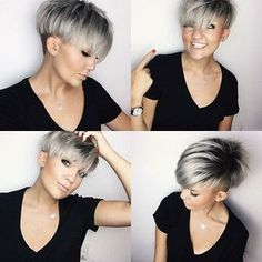 Short Hairstyle 2018 - 20 | Asymmetrical pixie | Pinterest ...