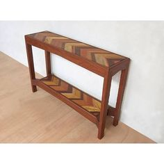Our herringbone sofa tables are handmade from a wide variety of sustainably harvested tropical hardwoods such as Rosita Walnut, Royal Mahogany, Teak, Brazilian Cherry, Ipe and Canela.