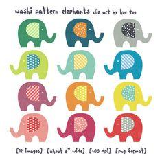 Cute elephants!!! Want to paint on wall.