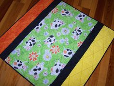 """Handmade Baby """"Happy Cows"""" Quilt Animals Boy Girl Custom Orders Available by Myra Barnes of Busy Hands Quilts"""