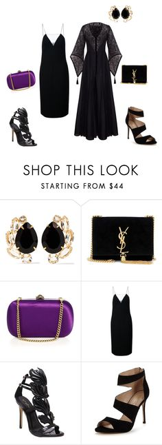 """""""#2 Total black+ violet"""" by valery-k ❤ liked on Polyvore featuring Bounkit, Yves Saint Laurent, Gucci, Alexander Wang and Carvela"""