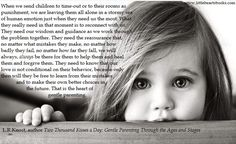 'Two Thousand Kisses a Day: Gentle Parenting Through the Ages and Stages' ~ The Problem with Punishment www.littleheartsbooks.com #parenting #books