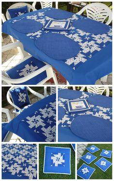 Královsky modrá zahradní souprava