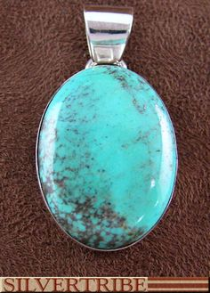 Native American Indian Turquoise And Sterling Silver Pendant GS55526