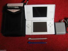 Nintendo DS Lite White Handheld System plays NDS & GBA Fantastic Condition bundl #Nintendo