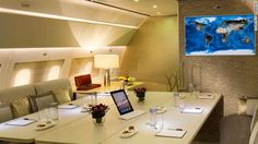 Luxurious Private Jet Office