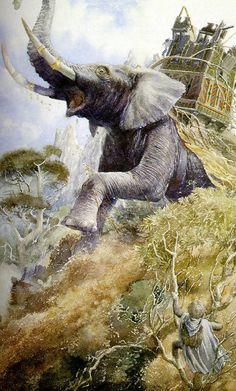 Alan Lee's Lord of the Rings Artwork / Mûmakil