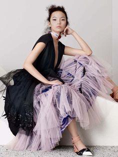 Xiao Wen Ju by Ben Toms for Vogue China April 2016