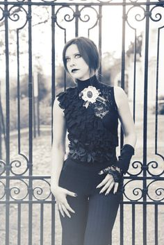 Black baroque style top by blackmirrordesign on Etsy, $90.00