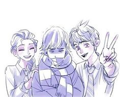 Jack & Elsa And Hiccup