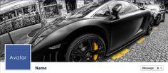 Free Facebook Timeline Cover Photos - Quality-Cover.com: Black Sports Car