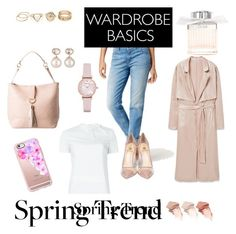 """Contest Wardrobe Basics spring trend"" by makesmefashionable on Polyvore featuring Calvin Klein Jeans, Emporio Armani, Chloé, MANGO, Semilla, Too Faced Cosmetics, RED Valentino, Casetify and Samira 13"
