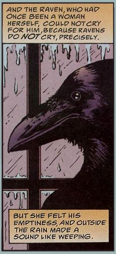 "Love this Wee Story of Raven and the metaphor of the Rain and weeping. ""Once Upon a Time…"" by Blue Ruins// not a crow, but i love this anyway Crow Art, Comic Art, Illustration, Totem, Sandman, Art, Mythology, Fairy Tales, Pop Art"