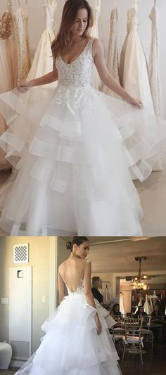 Long Wedding Dresses, Wedding Dresses With Straps, Backless Wedding Dresses, Discount Wedding Dresses, Ivory Wedding Dresses, Floor Length Dresses, Applique Wedding Dresses, Floor-length Wedding Dresses, Straps Wedding Dresses