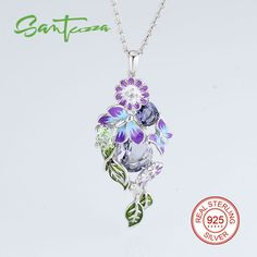 Silver Pendant Fit for Necklace For Women Crystal Cubic Zirconia Stone Pendant Pure 925 Sterling Silver Party Fashion Jewelry