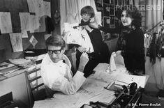 Dans le studio avec Yves Saint Laurent, Loulou de la Falaise et Anne Marie Muñoz…