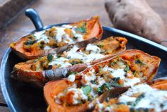 Vegan Sweet Potato Skins with Indian Spices