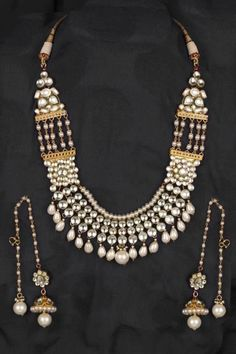 pearl necklace and ear ornaments from India.