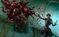 Blood Mage by Aldo Katayanagi   Fantasy   2D   CGSociety