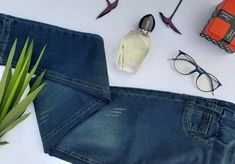Jeansstick pants and button at the price of 155 EGP Jeans Brands, Mom Jeans, Buttons, Pants, Raw Materials, Repeat, Tassels, Period, Challenge