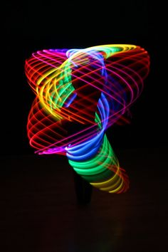 rechargeable double rainbow led hula hoop - Long gone are the days with basic hula hoops because Etsy has just offered a rechargeable double rainbow LED hula hoop that has two circuits. Led Hula Hoop, Led Hoops, Nerd, Light Installation, Fractal Art, Fractals, Over The Rainbow, Light Painting, Looks Cool