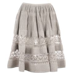ALAIA Skirt ($2,245) ❤ liked on Polyvore featuring skirts, saias, bottoms, gonne, brown skirt, frill skirt, ruffle skirts, flounce skirt and brown ruffle skirt