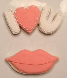 I love you, Lips - Decorated Sugar Cookies by I Am The Cookie Lady