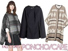 Fall Coats: Poncho/Capes
