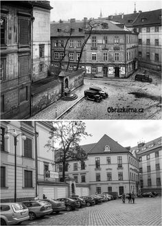 Marianske namesti Heart Of Europe, Prague Czech, Old Paintings, Yesterday And Today, More Pictures, Czech Republic, Time Travel, Old Photos, Poland